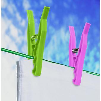 SupaHome Plastic Clothes Pegs 88mm Pack de 24