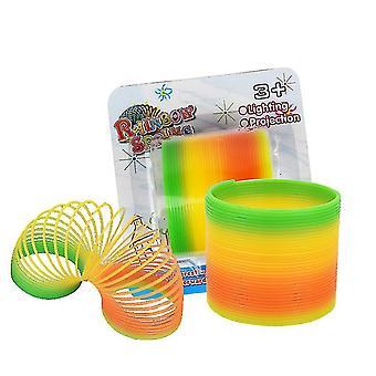 Spring Rainbow Ring Magic Set,stress Toy, 2 Pack