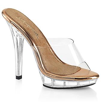 Fabulicious Women's Shoes LIP-101 Clr-Rose Gold/Clr