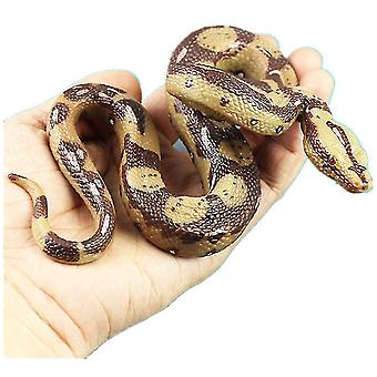 Simulatie boa constrictor, wilde dier model slang (Bruin)
