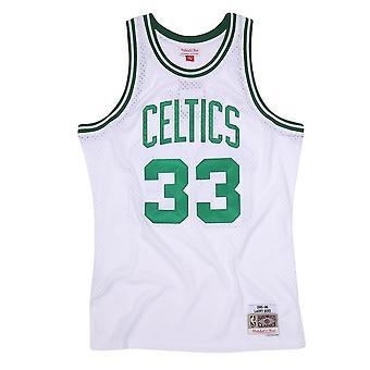Mitchell & Ness Nba Boston Celtics Larry Bird Swingman Jersey SMJYGS18141BCEWHIT85LBI koripallo koko vuoden miesten t-paita