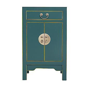 Fine Asianliving Table de chevet chinoise Bleu de jade W42xD35xH70cm - Sélection Orientique