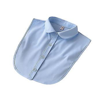 Avtakbar bluse firkantet ramme falsk krage kortfattet falsk krage blå
