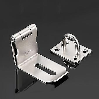 Cerraduras pestillos ángulo derecho/izquierdo cerradura de la cerradura de la puerta de acero inoxidable hasp