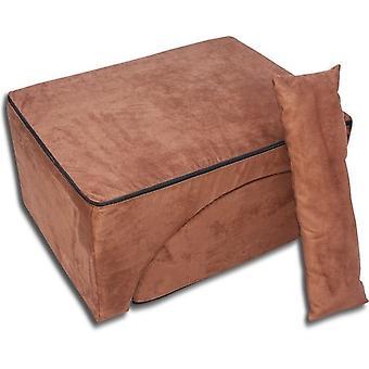 Opvouwbare relax sofa Bruin Suede