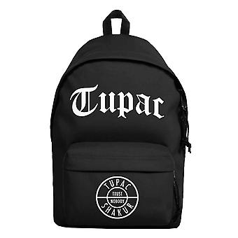 Tupac 2pac Backpack Bag Trust Nobody Logo new Official Black