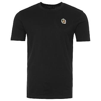 Forty Ben Camo Badge Organic Cotton T-Shirt - Black
