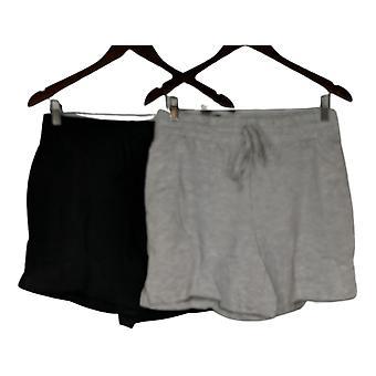 Danskin Women's Shorts Small Soft Active 2-pack Black