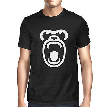 Gorilla ansigt T-shirt Halloween søde Herre grafik T-shirt til Zoo