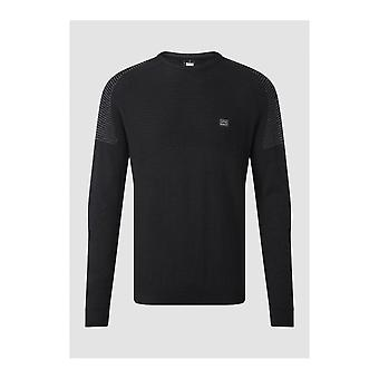 883 Police Ducking Cotton Ribbed Black Knitwear Jumper