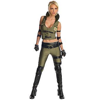 General Sonya Blade soldat Mortal Kombat kämpar videospel kvinnor kostym