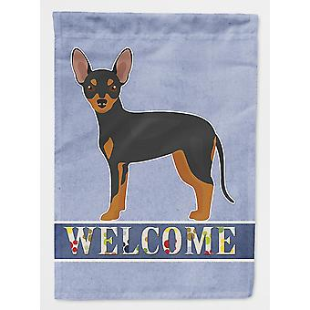 Flags windsocks carolines treasures ck3672chf prague ratter welcome flag canvas house size