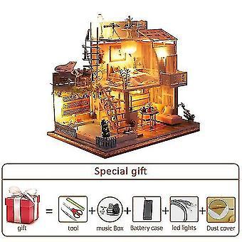 Dollhouse accessories big doll house furniture miniature building kits diy dollhouse kit roombox villa garden wood houses