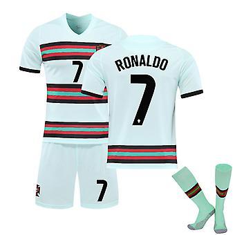 Cristiano Ronaldo Portugal Jersey, borte Jersey No.7 (barnas størrelse)
