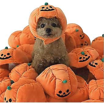 Хэллоуин Pet Фото Реквизит, Плюшевые тыквенные шляпы для кошек, Хэллоуин Кошачий реквизит, Тыквенные пети для собак
