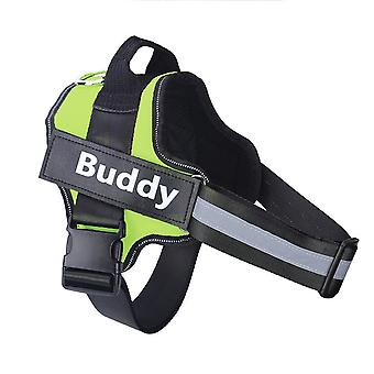 Harnais de chien personnalisé Pas de harnais d'animaux de compagnie respirant réfléchissant pour petit grand gilet de harnais de chien avec patch personnalisé