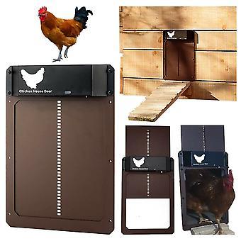 Automaattinen kanayhteistyön ovi valoherkkä kana talon oven avaaja siipikarjan ruokintaan