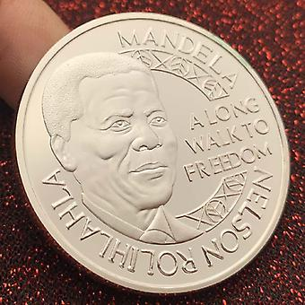 1993 South African Father Mandela Commemorative Medal Collection Coin Craft Silver Plated Coin Commemorative Coin