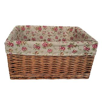 Extra Large Double Steamed Garden Rose Willow Storage Baskets