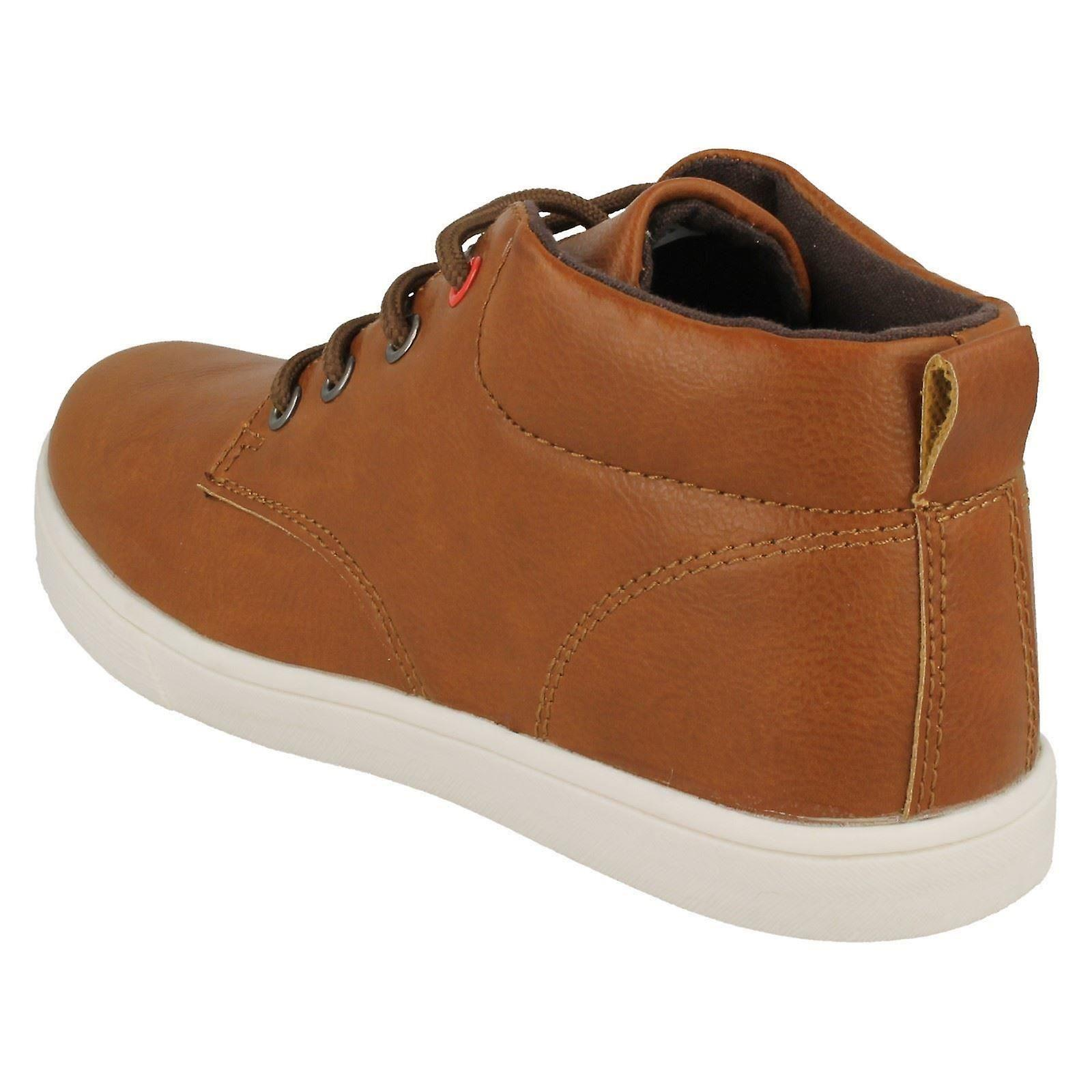 Boys Tan Lace Up Ankle Boots UK Sizes 9-3 N2036