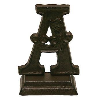 Iron Ornate Standing Monogram Letter A Tabletop Figurine 5 Inches