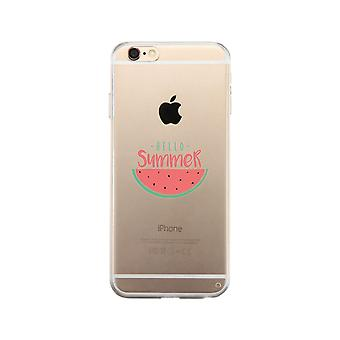 Hello Summer Watermelon Clear Phone Case
