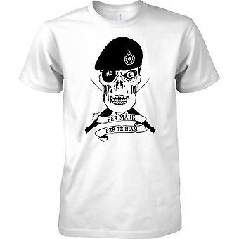 Cráneo de Royal Marines - por yegua por Terram - comando de élite - los niños T Shirt
