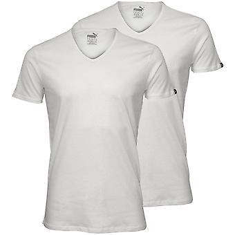 Puma 2-Pack V-Neck T-Shirts, White