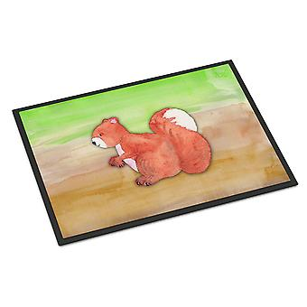 Carolines skarby BB7431MAT wiewiórka akwarela wewnątrz lub na zewnątrz Mat 18 x 27 cm