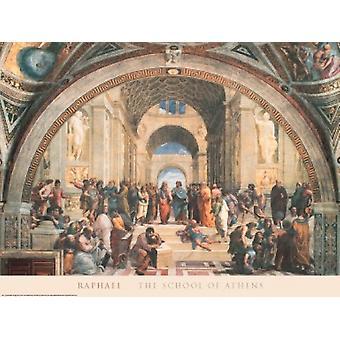 Schule von Athen-Plakat-Druck von Raffael - Raffaello Santi (39 x 27)