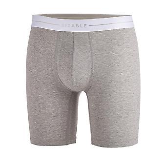 Jókora hosszú láb férfiak ' s hosszú láb Grey bio-pamut felszerelt boxers