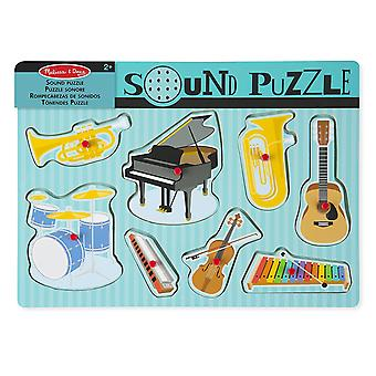 Melissa & Doug musikalische Instrumente Sound Puzzle 8 pcs
