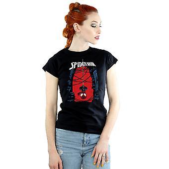 Beundre kvinners Spider-Man hengende skisse t-skjorte
