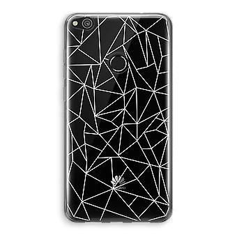 Huawei Ascend P8 Lite (2017) Transparant fall (Soft) - geometriska linjer vit