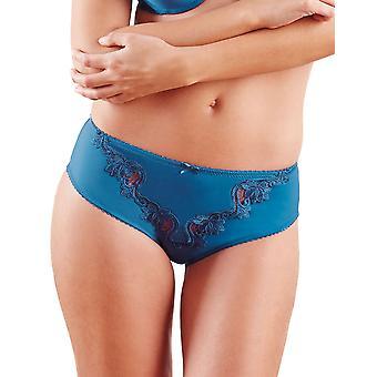 Guy de France 61103-181-097 Frauen Blau Solid Farbe Spitzen Höschen Panty kurze