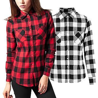 Urban classics ladies - FLANNEL lumberjack shirt shirt
