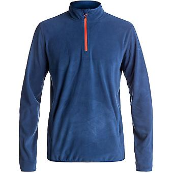 Quiksilver Mens Aker vocht Wicking snel drogen Half Zip Fleece Top