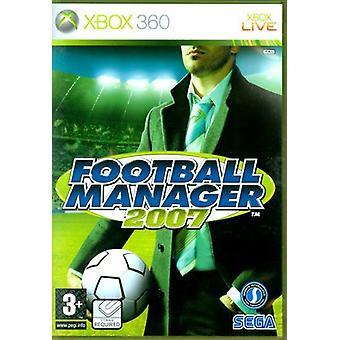 Football Manager 2007 Xbox 360-fabriek verzegeld