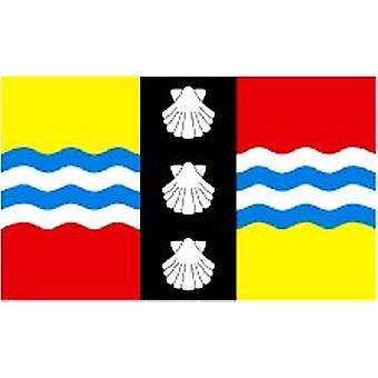 Bedfordshire vlag 5 ft x 3 ft met oogjes voor verkeerd-om