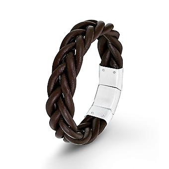 s.Oliver joia marrom pulseira de couro SO1389/1 masculina-9025497