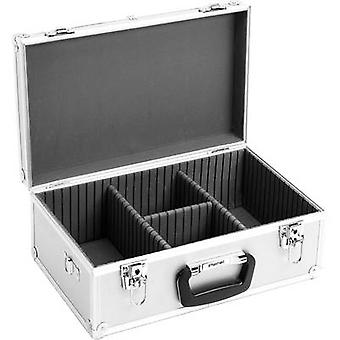 Perel CD Hardcase 60 CDs/DVDs/Blu-Rays Aluminium 1 PC (W x H x D) 424 x 173 x 265 mm 1823-424