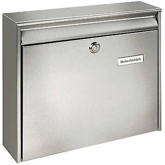 Burg Wächter 20200 BORKUM 3877 NI Letterbox Stainless steel Silver Key