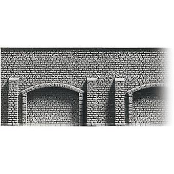 H0 bakstenen muur steen muur met bogen NOCH 58048