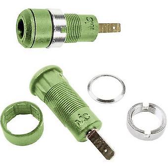 Stäubli SLB2-F2,8 Jack socket Socket, vertical vertical Pin diameter: 2 mm Green 1 pc(s)