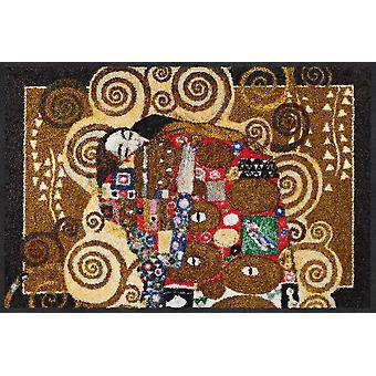 Salong lion Gustav Klimt dörrmatta meningsfullt melange tvättbara smuts matta