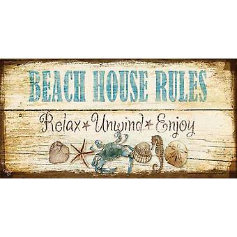 Beach House Welcome Poster Print by Mollie B (18 x 9)