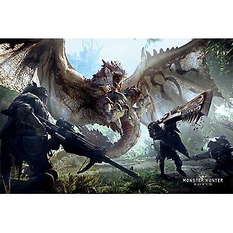Monster Hunter World Gaming Poster Print