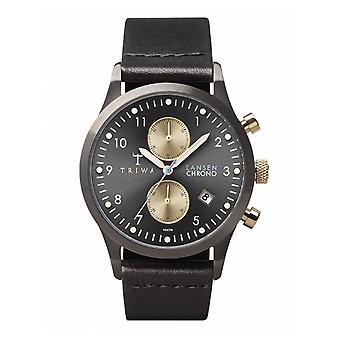 Triwa Unisex Watch wristwatch LCST101-CL010113 Walter Lansen Chrono leather