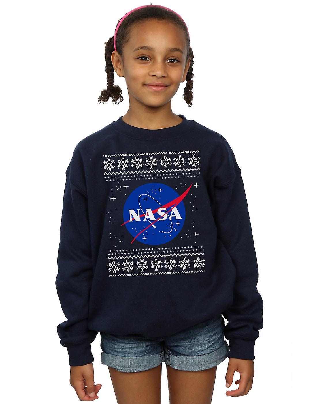 NASA Girls Classic Fair Isle Sweatshirt
