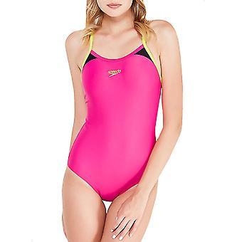 Speedo Damen Splice Thinstrap Racerback Badeanzug schwimmen Sport Badeanzug